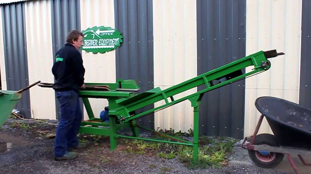 Beaver Equipment Electric Firewood Saw Bench With An Out