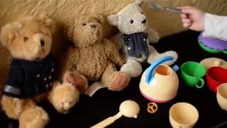 Чаепитие. Мишки в гостях. Мастер-клас от Принцессы Дианы. Делаем чай. Детский канал