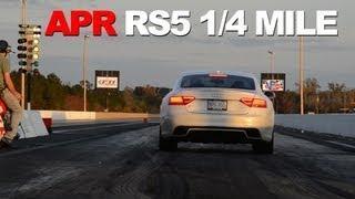 APR RS5 Stage I ECU Upgrade VS Stock at the Drag Strip