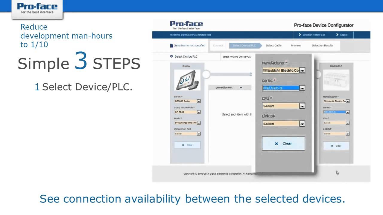 Pro-face Device Configurator - Connect your HMI to any PLC and USB device