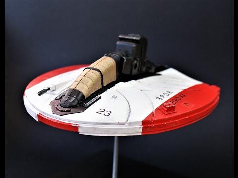 scratchbuilt styrene spaceship 2