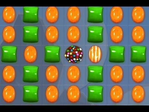 Candy Crush - CRAZY GREEN & ORANGE CANDIES COMBO!!