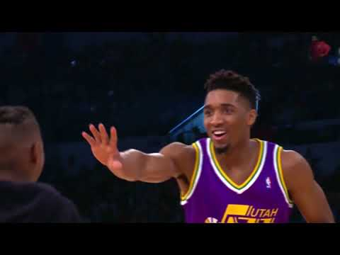 Donovan Mitchell Jumps Over Kevin Hart  1st Round 2nd Dunk
