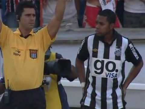 Robinho debut match vs Sao Paulo //with heel goal//