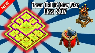 TOWNHALL 6(TH6) ULTIMATE WAR BASE (NEW 2017 UPDATE) -CLASH OF CLANS TOWNHALL 6(TH6) WAR BASE