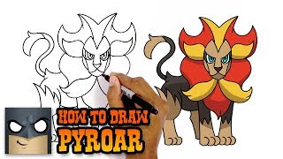 How to Draw Pyroar | Pokemon (Art Tutorial)