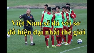 Đội tuyển Việt Nam đá với sơ đồ hiện đại bậc nhất thế giới
