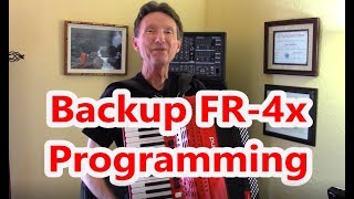 Roland FR 4x Accordion - Back Up Your Programming Files