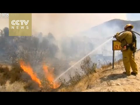 Firefighters battle wildfires in California