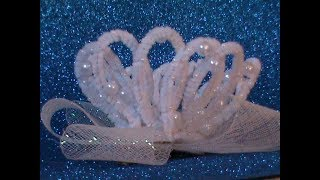 dIY/МК Как сделать корону для принцесс из синельной проволоки
