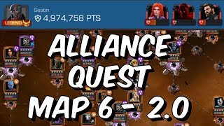 Alliance Quest Map 6 2.0 - Full Clear /w Mephisto Boss Kills - Marvel Contest Of Champions