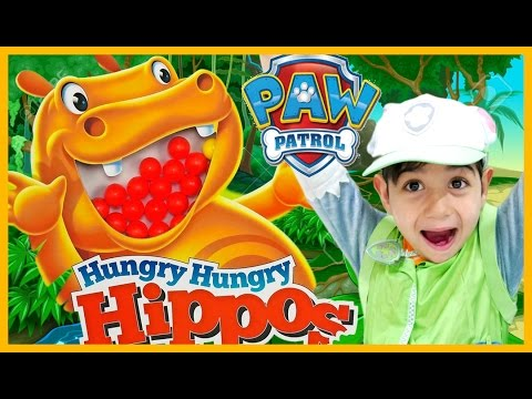 Thumbnail: PAW PATROL Videos HUNGRY HUNGRY HIPPO vs Paw Patrol REAL LIFE Hippo EATS DISNEY CARS MicroDrifters