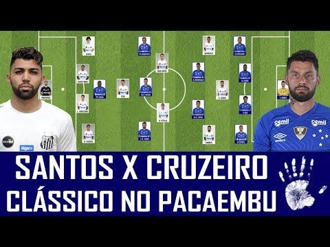 PRÉ-JOGO: SANTOS X CRUZEIRO - BRASILEIRÃO
