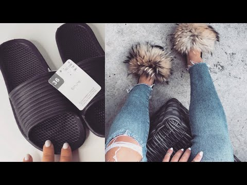 separation shoes 50d32 fb15a DIY Fell Latschen 3€ I DIY Fur Slides Fenty / Givenchy I Marina Si