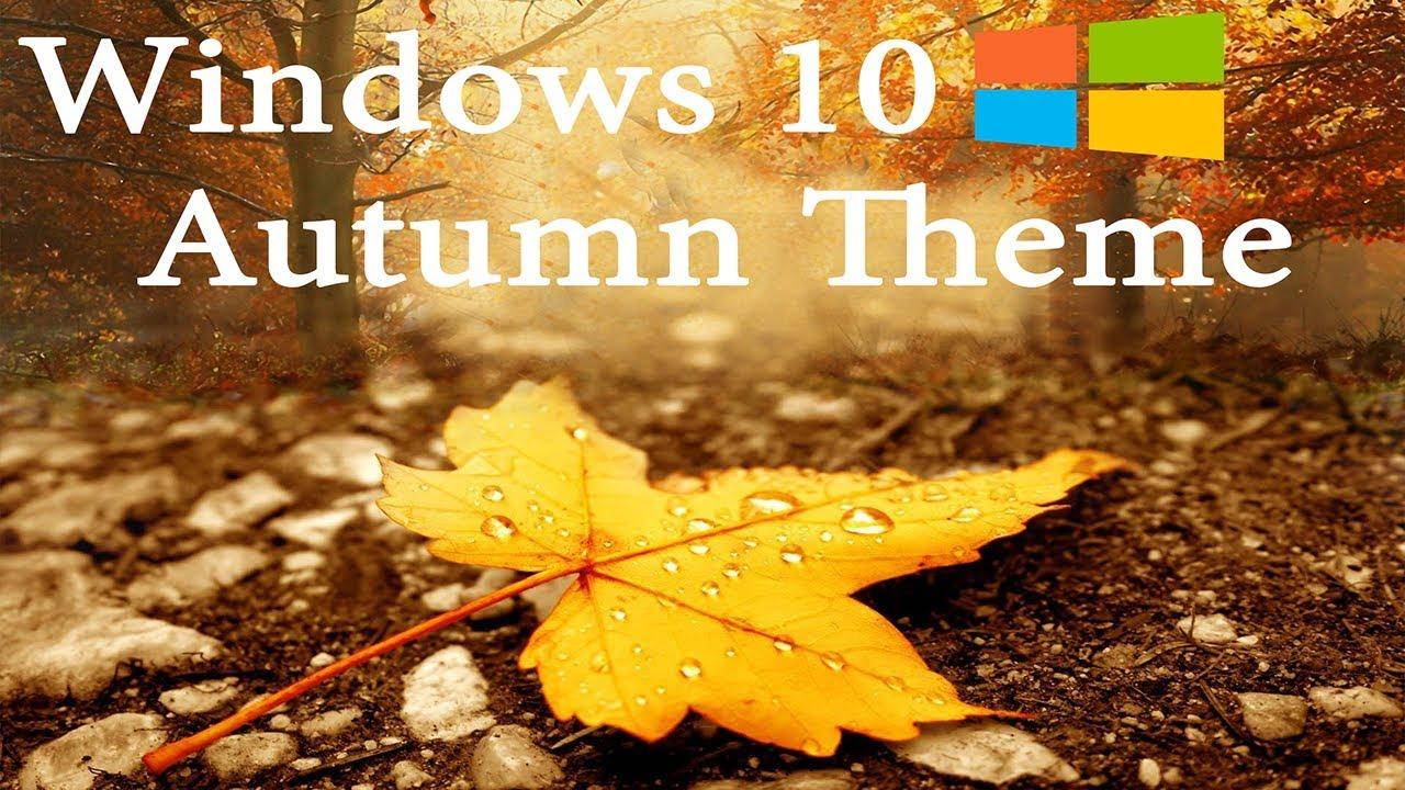 windows10 autumn theme youtube