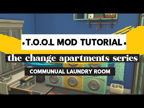 Sims 4: Build a functional communal laundry room in the City Living apartments