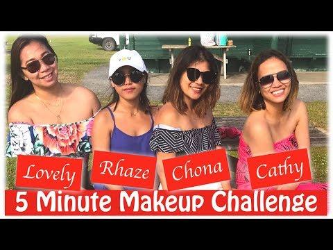 5 minute make up challenge ft. Rhaze, Chona & Lovely