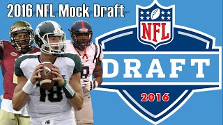 2016 NFL Mock Draft 1.0 (1/8/16) Free HD Video
