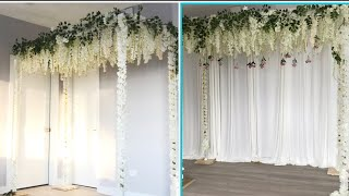 Diy  Pvc Pipe Floral Ceiling Diy  Two Ways To Decorate Canopy Ceiling Diy  Floral Ceiling