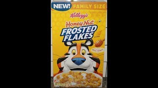 Kellogg's Honey Nut Frosted Flakes Cereal Review