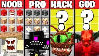 Minecraft Battle: MONSTER BOSS CRAFTING CHALLENGE - NOOB vs PRO vs HACKER vs GOD ~ Animation