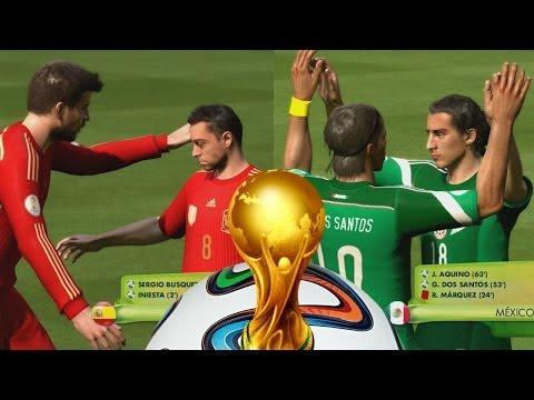 2014 Fifa World Cup - Primera Fecha,Mexico - Colombia - España - Argentina Gameplay Xbox