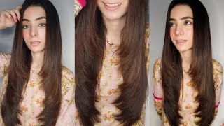 Long layers haircut at home | Step by step long layered haircut tutorial