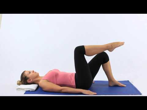 Pilates Double knee folds