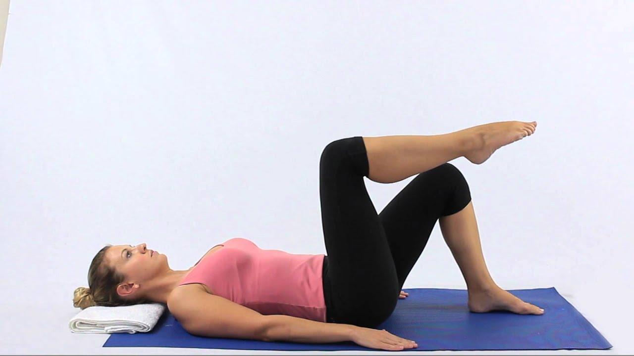 Pilates Double knee folds - YouTube