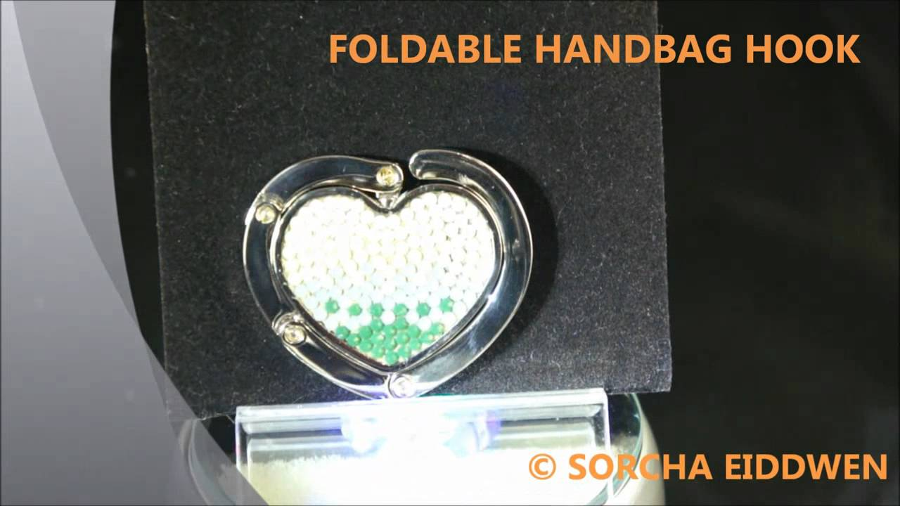 e410814ee0 Swarovski Foldable Handbag Hook 2 - YouTube