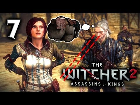 The Witcher 2 Gameplay - A Rough Landing in Flotsam! - Part 7