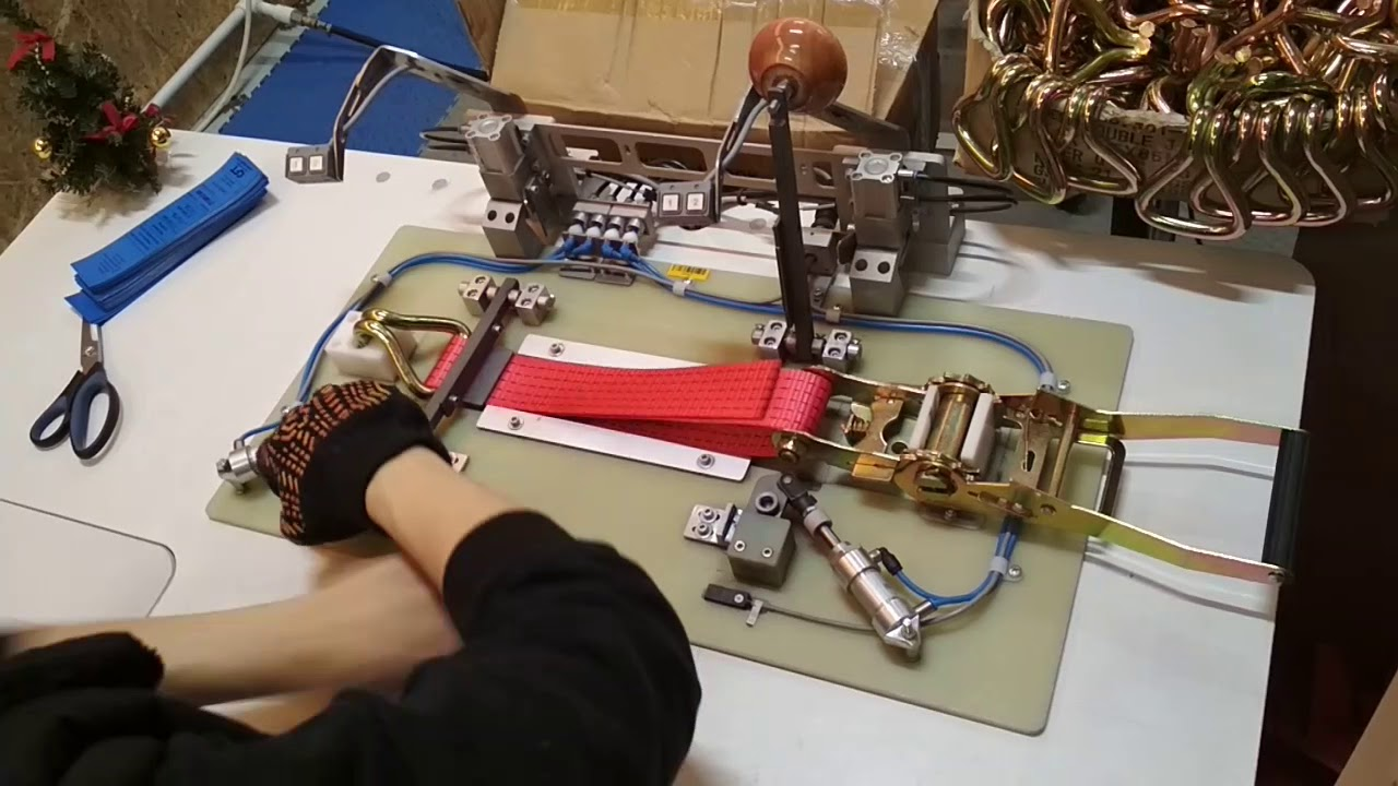 How To Assemble Ratchet Straps Lashing Straps Before Sewing Youtube