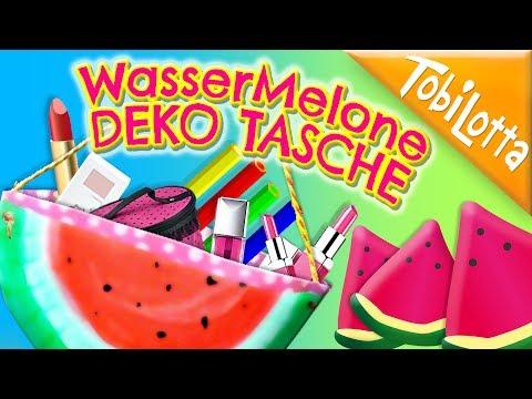 DIY Wassermelone Tasche | Wassermelone basteln | Melone basteln | vorlage Wassermelone 116
