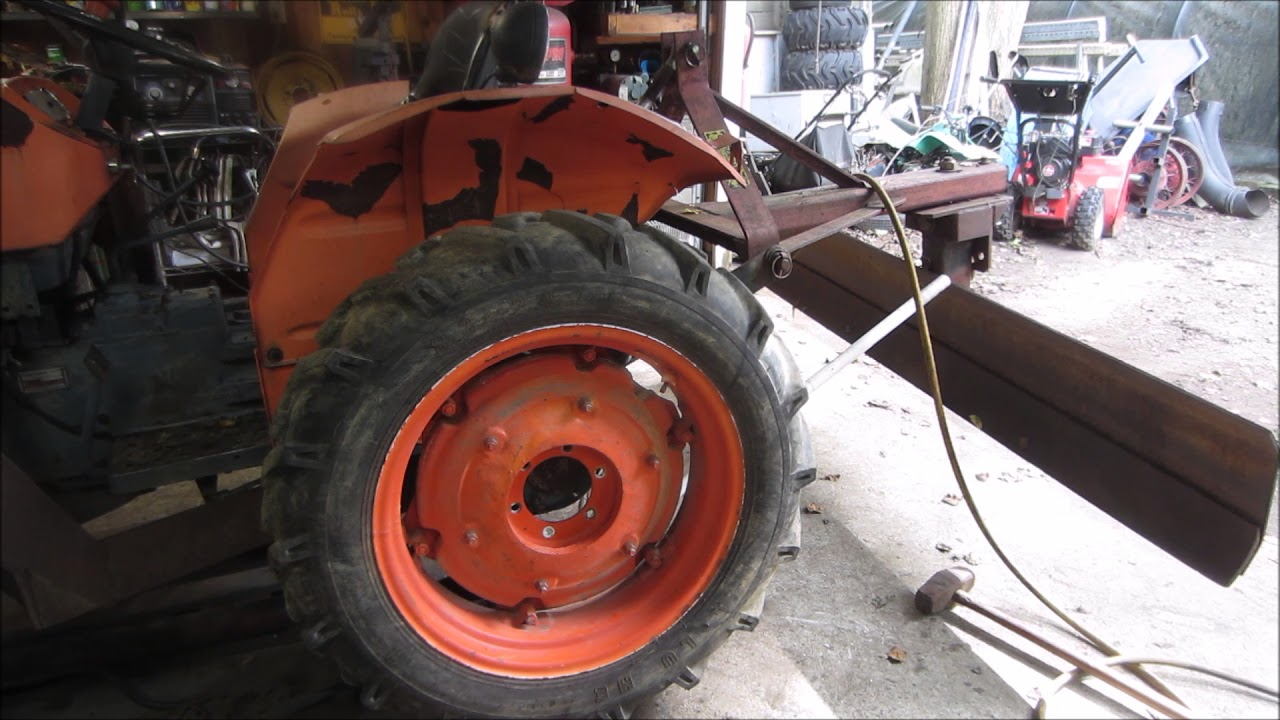 kubota tractor gets junk yard china tires rims drilled to