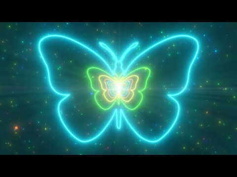 Download Butterfly Neon Lights Tunnel Fast Abstract Glow Particles 4K TikTok Trend Background