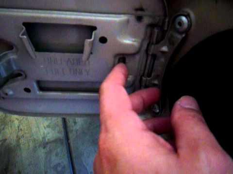 Fixing or replacing a broken fuel door spring for Toyota