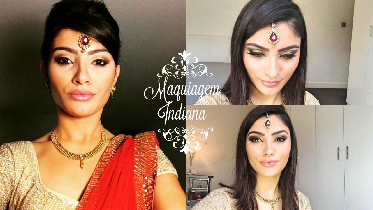 Super Indian Wedding makeup Tutorial | Maquiagem para casamento indiano  JN07