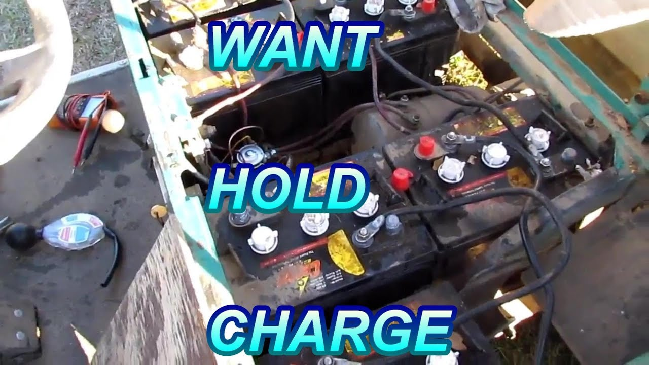 small resolution of golf cart batteries good die quickly