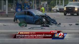 Ocoee officer involved in serious crash