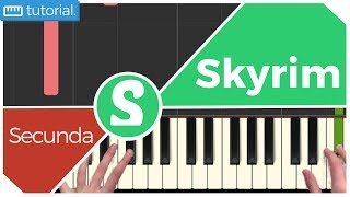 """How to Play """"SECUNDA"""" from Skyrim (Synthesia) [Piano Tutorial] [HD]"""