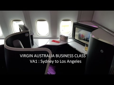 Virgin Australia Business Class B777-300ER ✈ Sydney to Los Angeles VA1