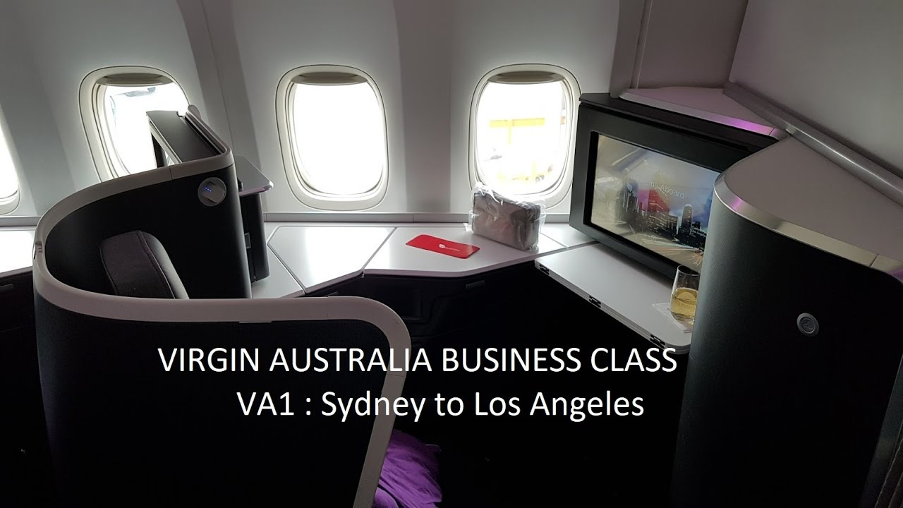 Virgin Australia 777 Map.Virgin Australia Business Class B777 300er Sydney To Los Angeles Va1