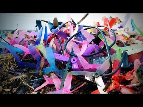 hundreds of broken props..