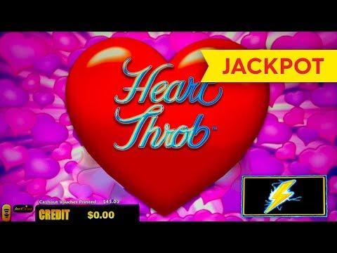 JACKPOT HANDPAY! Lightning Link Heart Throb Slot - $25 Max Bet! - 동영상