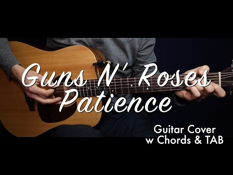 Guns N' Roses - Patience (Chords) guitar cover/guitar (lesson/tutorial) w TAB /play-along/