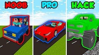 Minecraft NOOB vs. PRO vs. HACKER: FAMILY CAR CHALLENGE in Minecraft! (Animation)