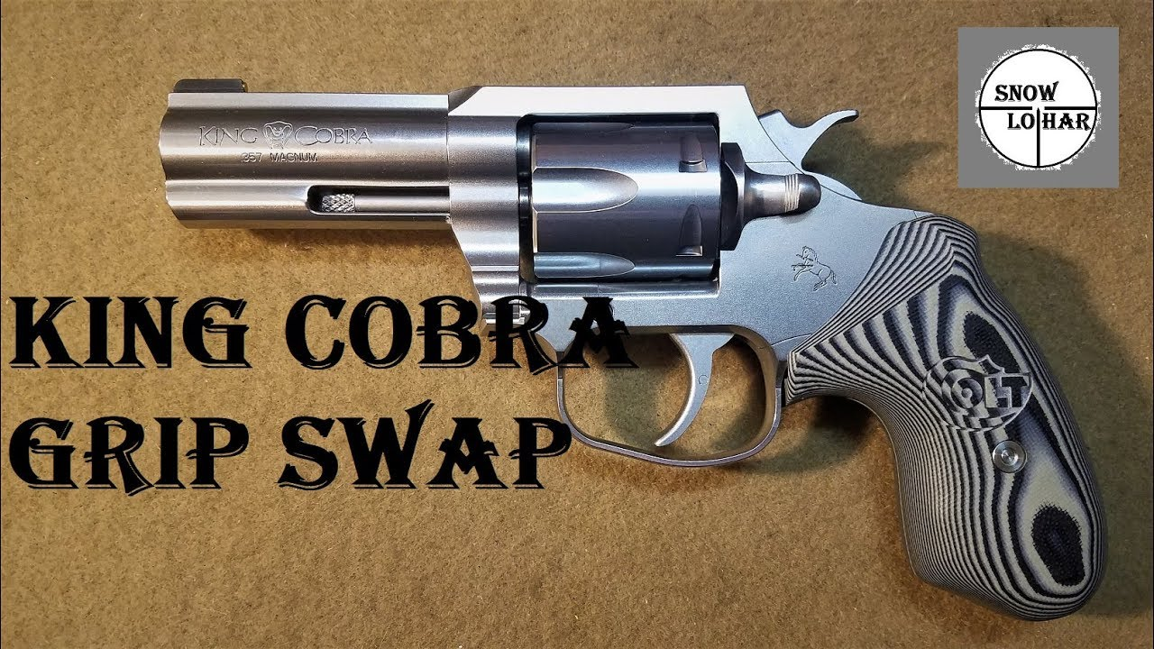 Colt King Cobra Grip Swap - With Cobra 2017 Grips!