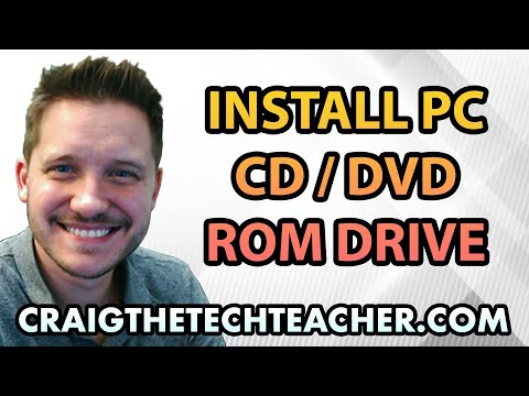 How To Install A Computer CD, DVD or Bluray ROM Drive - Ep. 7