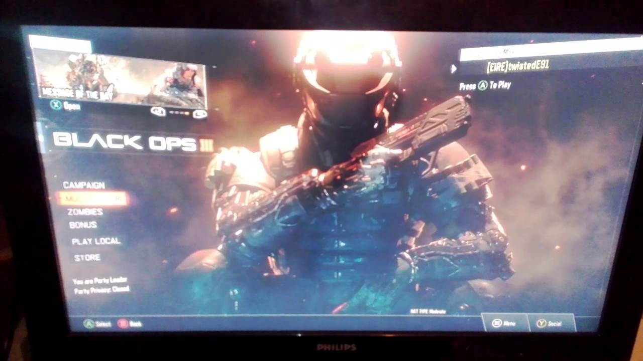 how to play black ops 3 online xbox one