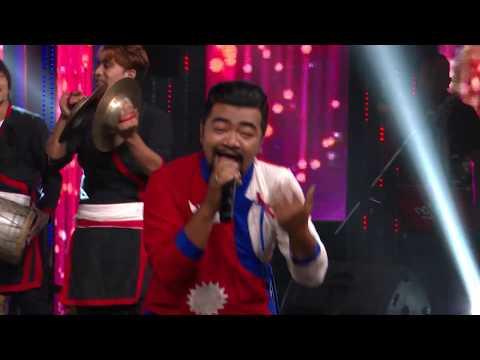 """Ashish Gubaju - """"Maan Magan"""" - Live Show - The Voice Of Nepal 2018"""